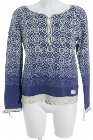 Odd Molly Strickpullover weiß-blau Casual-Look