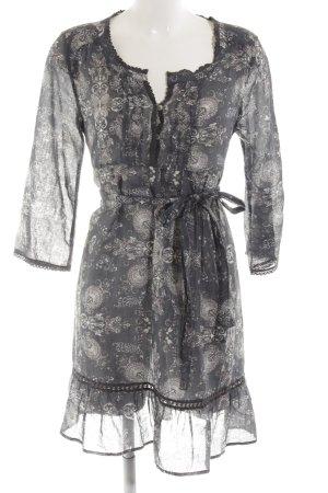 Odd Molly Tunikakleid schwarz-wollweiß abstraktes Muster Elegant