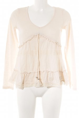 Odd Molly Langarm-Bluse creme meliert Casual-Look