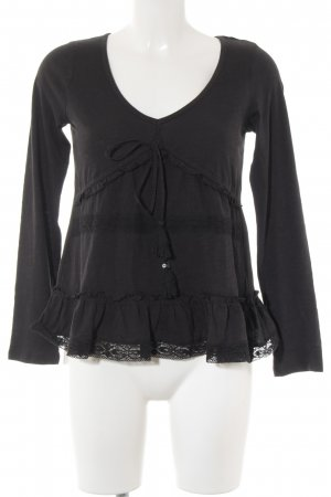 Odd Molly V-Neck Sweater black flecked casual look