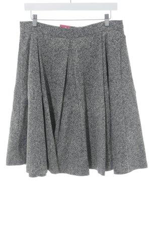 Odeeh Jupe à plis noir-blanc cassé moucheté style décontracté