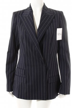 Odeeh Long-Blazer dunkelblau-weiß Nadelstreifen Business-Look
