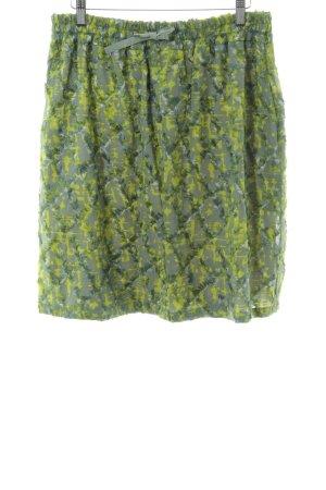 Odeeh Minirock grün abstraktes Muster Casual-Look