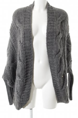 ODEON Cardigan grau Zopfmuster Casual-Look