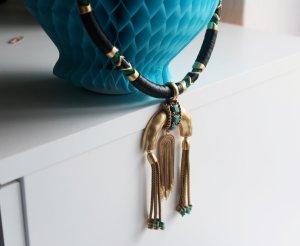 Odéon Halskette mit aus echtem Leder
