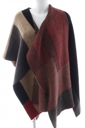 ODEON Strickponcho Colourblocking Casual-Look