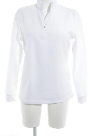 Odlo Pullover in pile bianco stile semplice