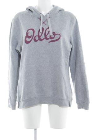 Odlo Capuchon sweater lichtgrijs prints met een thema casual uitstraling