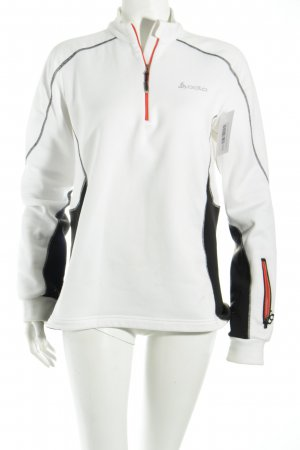 Odlo Shirt weiß-schwarz sportlicher Stil
