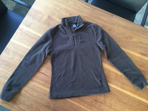 Odlo Pullover in pile marrone-nero