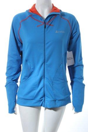 Odlo Sportjacke kornblumenblau-orange sportlicher Stil