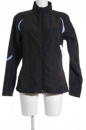 Odlo Sportjack zwart-babyblauw atletische stijl