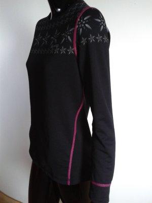 Odlo, warmes Sportshirt, lady S, schwarz mit Muster, wie neu