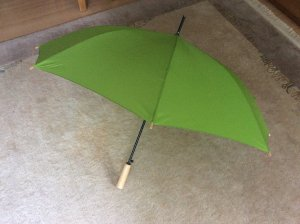 Walking-Stick Umbrella grass green polyester