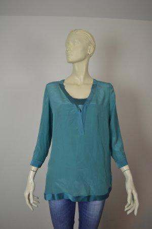 Off & Co Bluse Gr. 34 100% Seide mit Unterhemd
