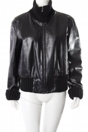 Off & Co Leather Bomber Jacket