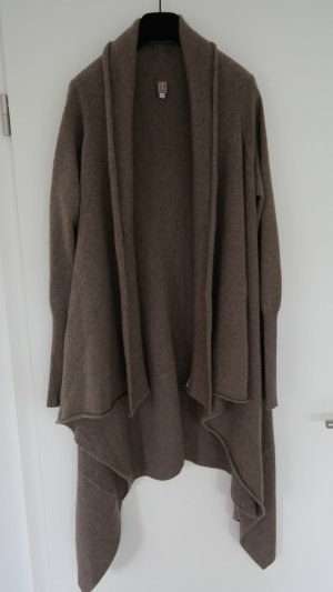 Knitted Coat grey brown