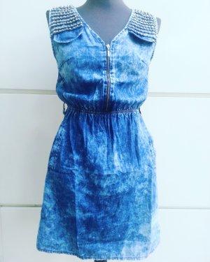 Off schoulder Kleid mit Zip steinbesetzt