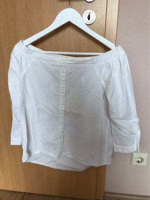 Only Blouse en lin blanc