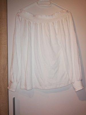 Pimkie Camisa de un solo hombro blanco