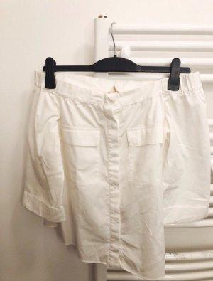 Off-Shoulder Bluse mit Brusttaschen