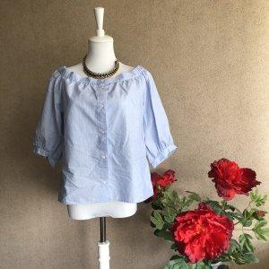 H&M Blusa tipo Carmen azul celeste