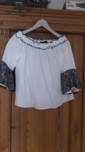 Off-shoulder Bluse mit Spitze - NEU