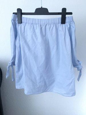Off-shoulder-Bluse Shirt babyblau blogger h&m