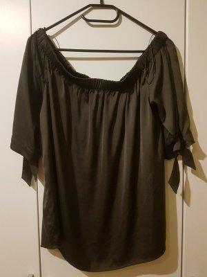 Hennes Collection by H&M Camisa de un solo hombro caqui