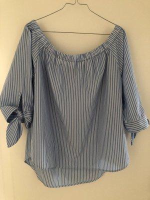 Hallhuber Carmen Blouse azure-white polyester