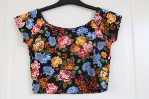 Off-Shoulder Crop Top geblümt