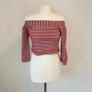 Off the shoulder top rood-wit