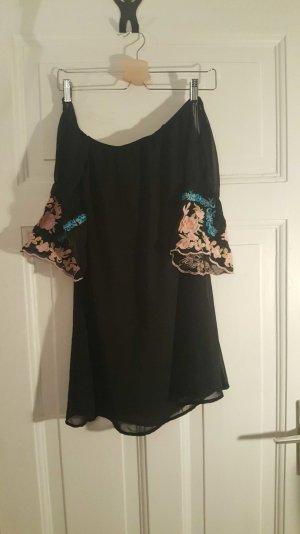 off shoulder dress schwarz