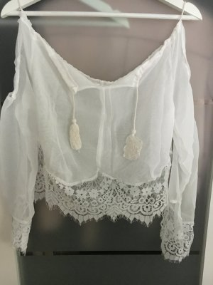 Off-Shoulder Fashion white TOP