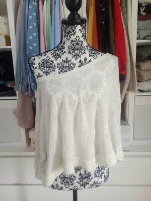 Off Shoulder Festival One Shoulder Pulli Shirt Pullover Weiß Beige S M L 36 38
