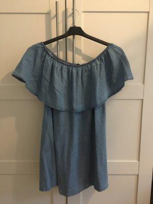 Off - Shoulder Jeanskleid