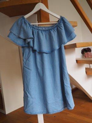 Off-Shoulder-Kleid aus Jeans