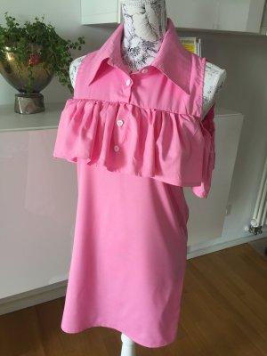 Off shoulder Kleid Hemdkleid Bluse rosa Gr S/M 38 NEU