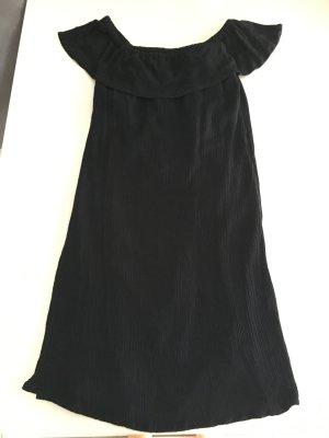 Ichi One Shoulder Dress black viscose