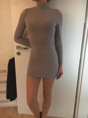 Off-Shoulder Kleid in grau