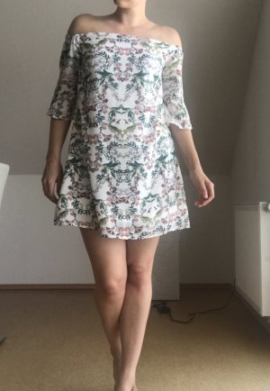 Off-shoulder Kleid mehrfarbig