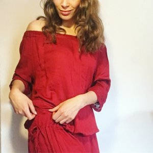 Off Shoulder Kleid mit Kordel