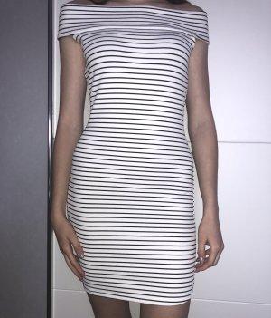 Off shoulder Kleid schwarz weiß