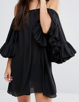 off-shoulder-kleid von Boohoo
