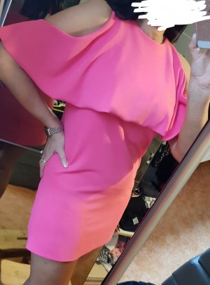 Zara Trafaluc A-lijn jurk roze-framboosrood