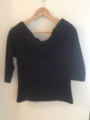 Only Off the shoulder top zwart