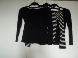 Atmosphere Camisa de un solo hombro blanco-negro
