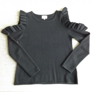 Off-shoulder Pullover 100% Kaschmir NEU