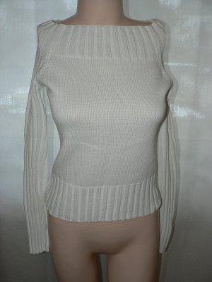 Off-Shoulder-Pullover AMISU weiss