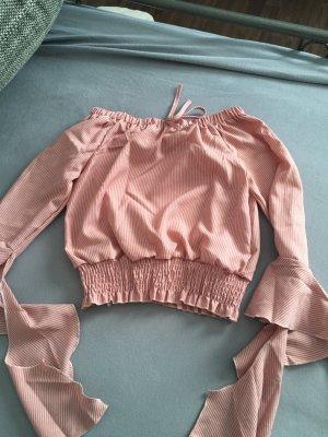 Carmen blouse rosé-stoffig roze